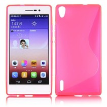 Roze S-design TPU hoesje Huawei Ascend P7