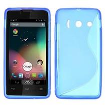 S-line blauw TPU hoesje Huawei Ascend Y300