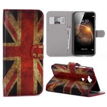 Britse Vlag Bookcase Hoesje Huawei G8