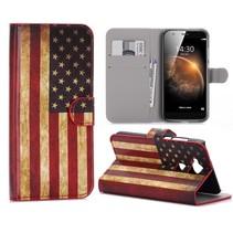 Amerikaanse Vlag Bookcase Hoesje Huawei G8