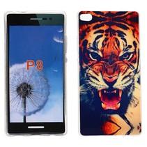 Tijger TPU hoesje Huawei P8