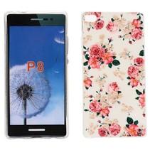 Bloemetjes design TPU hoesje Huawei P8