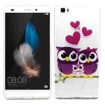 Uil familie TPU hoesje Huawei P8 Lite