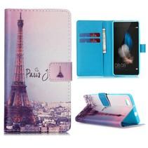 Parijs Bookcase hoes Huawei P8 Lite