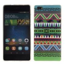 Groene aztec TPU hoesje Huawei P8 Lite