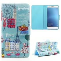 Londen Bookcase Hoesje Huawei P9 Lite