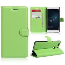 Groen Litchi Bookcase Hoesje Huawei P9 Plus