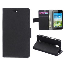 Zwarte Bookcase hoes Huawei Y360