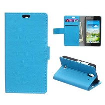 Blauwe Bookcase hoes Huawei Y360