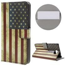 Amerikaanse Vlag Bookcase Hoesje Huawei Y5II
