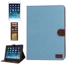 Lichtblauwe jeans flipcover hoes iPad 2 / 3 / 4