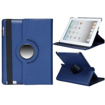 Lychee blauwe 360 graden hoes iPad 2 / 3 / 4