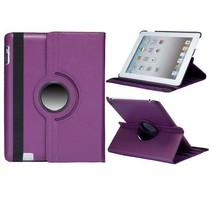 Lychee paarse 360 graden hoes iPad 2 / 3 / 4