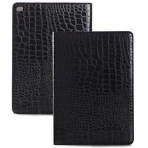 Zwart krokodillen flipstand hoes iPad Air 2