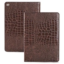 Bruin krokodillen flipstand hoes iPad Air 2