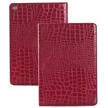 Rood krokodillen flipstand hoes iPad Air 2
