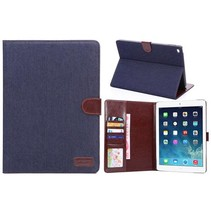Donkerblauw jeans flipstand hoes iPad Air 2