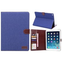 Blauw jeans flipstand hoes iPad Air 2