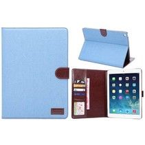 Lichtblauw jeans flipstand hoes iPad Air 2