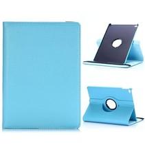 Blauw 360 graden lychee draaibare hoes iPad Air 2