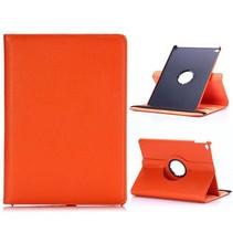 Oranje 360 graden lychee draaibare hoes iPad Air 2