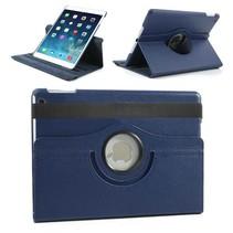 360 graden donkerblauw faux lederen hoes iPad Air