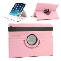 360 graden roze faux lederen hoes iPad Air