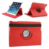 360 graden rood faux lederen hoes iPad Air