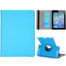 360 graden bookcover hoes blauw iPad Air