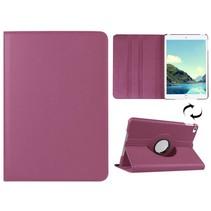 Paars 360 graden draaibare hoes iPad Mini 4