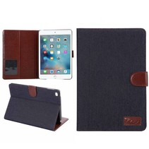 Zwarte jeans flipstand hoes iPad Mini 4