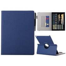 Blauw 360 graden stoffen draaibare hoes iPad Pro