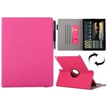 Roze 360 graden stoffen draaibare hoes iPad Pro