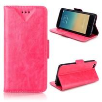 Roze zakelijk Bookcase hoesje iPhone 6 / 6s