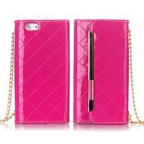 Roze stijlvolle handtas hoes iPhone 6 / 6s
