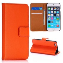 Oranje moderne Bookcase hoes iPhone 6 / 6s