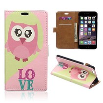 Love uil Bookcase hoes iPhone 6 / 6s
