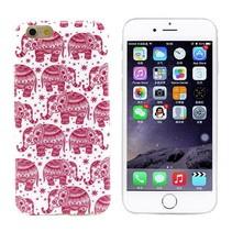 Roze olifantjes TPU hoesje iPhone 6 / 6s