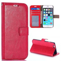 Glad rood 3-in-1 Bookcase hoesje iPhone 6 / 6s