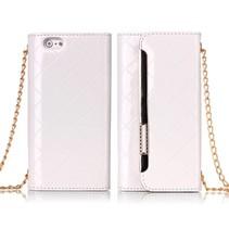 Stijlvolle handtas stijl wallet case wit iPhone 6 / 6s