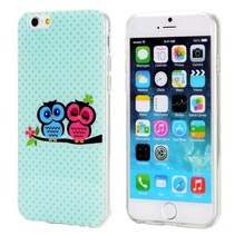 Duo color lovely owls TPU hoesje iPhone 6 / 6s