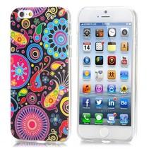 Kleurrijke figuren IMD craft TPU hoesje iPhone 6 / 6s