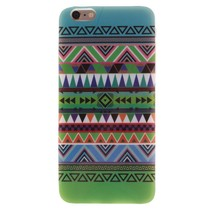 Groen azteken TPU hoesje iPhone 6 / 6s
