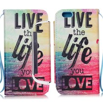 Quote 2-in-1 book + backcover hoes iPhone 6 / 6s