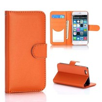 Oranje glad Bookcase hoesje iPhone 6 / 6s