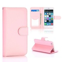 Roze glad Bookcase hoesje iPhone 6 / 6s