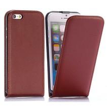 Bruine Flip Case hoes iPhone 6 / 6s