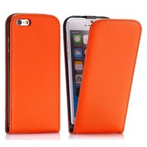 Oranje Flip Case hoes iPhone 6 / 6s