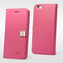 Roze Bookcase hoesje iPhone 6 / 6s