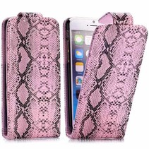 Slangen roze Flip Case hoes iPhone 6 / 6s